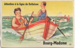 64 BOURG-MADAME  Carte à Système  Attention à La Ligne De Flotaison - Cartoline Con Meccanismi