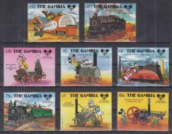 T22. Gambia - MNH - Cartoons - Disney's - Characters - Trains - Disney