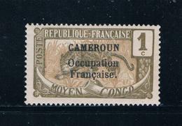 Cameroun 130 MLH Leopard Overprint 1916 (C0215)+ - Cameroun (1915-1959)