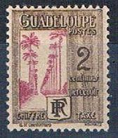 Guadeloupe J25 MLH Ave Of Palms 1928 (G0352)+ - Guadeloupe (1884-1947)