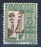 Guadeloupe J27 MLH Ave Of Palms 1928 (G0354)+ - Guadeloupe (1884-1947)