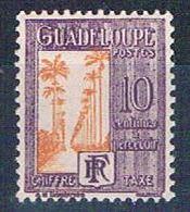 Guadeloupe J28 MLH Ave Of Palms 1928 (G0355)+ - Guadeloupe (1884-1947)