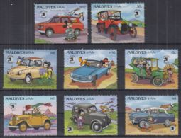 V22. Maldives - MNH - Cartoons - Disney's - Characters - Cars - Disney
