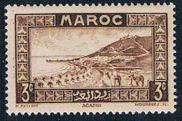 French Morocco 126 MLH Roadstead At Agadir 1933 (F0127)+ - Morocco (1891-1956)