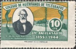 1944 COLEGIO DE HUÉRFANOS DE TELÉGRAFOS . MORSE 89 Anniversario - ESPANA 10 CTS - Spagna