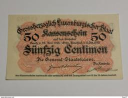 Luxembourg, 50 Centimes  , 1914-1918 . Excellente état, Unc. - Lussemburgo