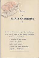 SAINTE CATHERINE - Bonnet ( Carte Double Avec Poème ) - Santa Catalina