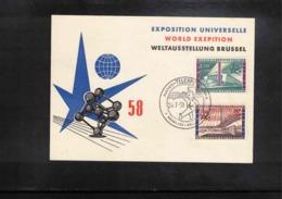 Belgium 1958 World Exposition Brussels Interesting Cover - 1958 – Brüssel (Belgien)