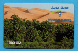 MAURITANIA - Desert, Mauritel Prepaid Card  - 1500 UM - Mauritanië