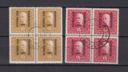 Bosnien-Herzegowina - Österreichische Besetzung - 1917 - Michel Nr. 119/120 Viererblock - Bosnien-Herzegowina