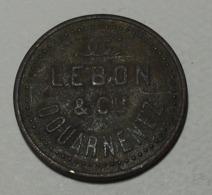 France - ND  - Jeton - Lebon Et Cie, Douarnenez, Gaz électricté Coke - Professionnels / De Société
