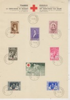 Feuillet Souvenir Croix-Rouge 1939 COB 496 / 503 - Panes