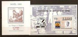 Zaire 1985 1986 OCBnr. Blok 63-64 *** MNH Cote 10,25 Euro Noël Kerstmis Cenzapost - Zaïre