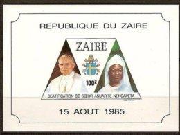 Zaire 1985 1986 OCBnr. Blok 65 *** MNH Cote 5 € Pâpe Jean-Paul II - Zaïre