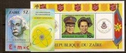 Zaire 1980 OBCn° Bloc  39 - 40 ***  MNH Cote 13,50 € Albert Einstein Armée Du Salut - Zaïre