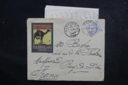 EGYPTE - Enveloppe Illustrée De L 'Hôtel National Du Caire Pour La France En 1910, Affranchissement Plaisant - L 48048 - Égypte