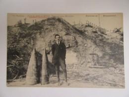 Guerre 14-18 - Verdun N°107 - Fort De DOUAUMONT - Deux Grosses Marmites (obus) - Carte Animée, Non-circulée - Guerre 1914-18