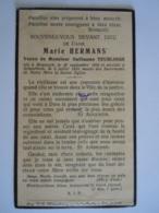 Image Pieuse Marie Hermans Née Maeseyck Décédée Schaerbeek 1933 Veuve De Guillaume Teurlings - Devotion Images