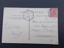 MARQUE POSTALE.VAR.RARE CACHET DE BAUDINARD.1905.CPA FONTAINE L'EVEQUE(SORBS).PAYSAGE DE LA SOURCE. - Poststempel (Briefe)