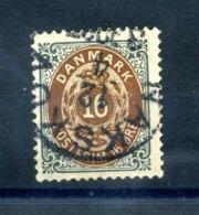 1875-1904 DANIMARCA 16o. USATO - Usati