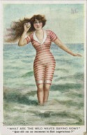 Humor Inglese- Donna In Costume Balneare - Liberty - Decò - Rif. 272 Ill. - Ilustradores & Fotógrafos