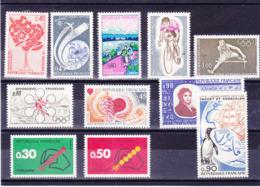 FRANCE 1972 Yvert 1704-1705 + 1711 + 1716 + 1719-1724 + 1734 NEUF** MNH Cote : 6,70 Euros - Francia