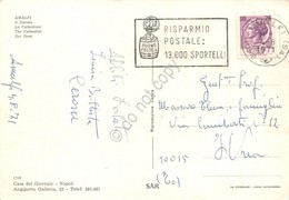 Cartolina Amalfi Duomo Timbro A Targhetta Risparmio Postale 1971 - Salerno