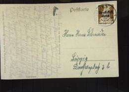 """DR: Ansichtskarte Mit 40 Pf Bayern Mit Aufdruck: """"Deutsches Reich"""" EF Vom 15.6.21 Bs: Königssee Berchtesgden Knr: 124 - Briefe U. Dokumente"""