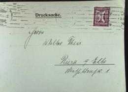 DR: Ds-Karte Mit 50 Pf In EF MWSt. Berlin 18.7.22 Nach Riesa Knr: 183 - Briefe U. Dokumente
