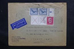 ALLEMAGNE - Enveloppe De Hamburg Pour Pars Par Avion En 1930, Affranchissement Plaisant -  L 48054 - Storia Postale