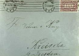 DR: Brief Mit 100 Pf Ziffer In EF Aus Berlin C2 Vom 7.4.23 Nach Kreischa Bei Dresden Knr: 219 - Briefe U. Dokumente