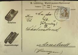 DR: Werbe-Brief Für Dachziegel Mit 3 Pf Germania Friedensdruck EF   Knr: 84 I - Briefe U. Dokumente