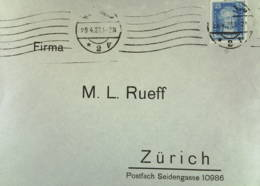 DR: Ausl-Brief Mit 25 Pf J. W. Von Goethe Als EF Vom 29.4.27 Nach Zürich Knr: 393 - Briefe U. Dokumente