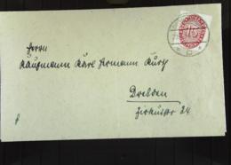DR: Dienstpost-Brief Mit 15 Pf Lilarot Als EF OSt. Dippoldiswalde Vom 29.4.31; Rs. Grü. Siegelmke Amtsgericht Knr: D 124 - Briefe U. Dokumente