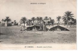 Algérie  Nomades Sous La Tente Au SAHARA - Algérie