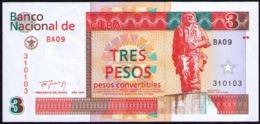 CUBA 3 PESOS 1994 SC-UNC PICK FX38 - Cuba