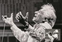 Austria 2018 - 100. Geb. Leonard Bernstein Maxicard - 1945-.... 2ª República