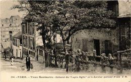 CPA Paris 18e Vieux Montmartre Cabaret Artistique Du Lapin Agile (284649) - París La Noche