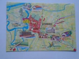 D169369 Map Carte  Hungary- SZARVAS  1972 PU 1977 - Landkaarten