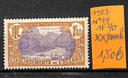 D - [837598]TB//**/Mnh-France (colonies) Océanie 1927 - N° 74, 1f40, SNC - Oceania (1892-1958)