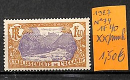 D - [837598]TB//**/Mnh-France (colonies) Océanie 1927 - N° 74, 1f40, SNC - Ozeanien (1892-1958)
