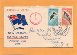New Zealand 1960 FDC Mailed Postage Due - FDC