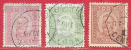 Portugal N°67B 10r, 73B 80r, 74a 100r 1892-93 O - 1892-1898 : D.Carlos I