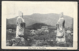 1901 CHIAN PPC KIUKIANG TO OHIO USA VIA SEATTLE 5c CIP STAMP /  PPC NANKING MING TOMB - China