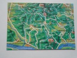 D169377 Map Carte  Hungary- Kóspallag Márianosztra Verőce Kismaros Szob Diósjenő Helemba 1970 - Landkaarten