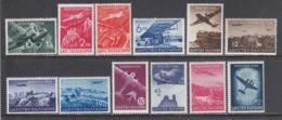Bulgaria 1940 - Par Avion: Serie Courante, YT PA 19/30, MNH** - Unused Stamps