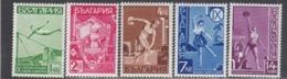 """Bulgaria 1939 - Sport: Concours Des Societes De Gymnastique""""Younnak"""", YT 335/39, MNH** - Unused Stamps"""