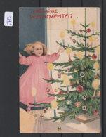 Ansichtskarte    Fröhliche Weihnachten   Von 1905      Gebrauchsspuren - Postales