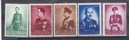Bulgaria 1938 - Roi Boris , YT 324/28, MNH** - Unused Stamps