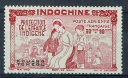 """Kouang-Tcheou, Guangzhouwan (French China), """"Childhood"""", 30c. + 90c., 1942, MNG VF airmail - Kouang-Tcheou (1906-1945)"""
